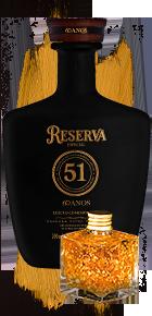 Reserva 51 Edição Comemorativa 60 anos com flocos de ouro comestível.